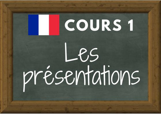 COURS DE FRANÇAIS 1 : les présentations (voici, voilà, c'est, il est …)