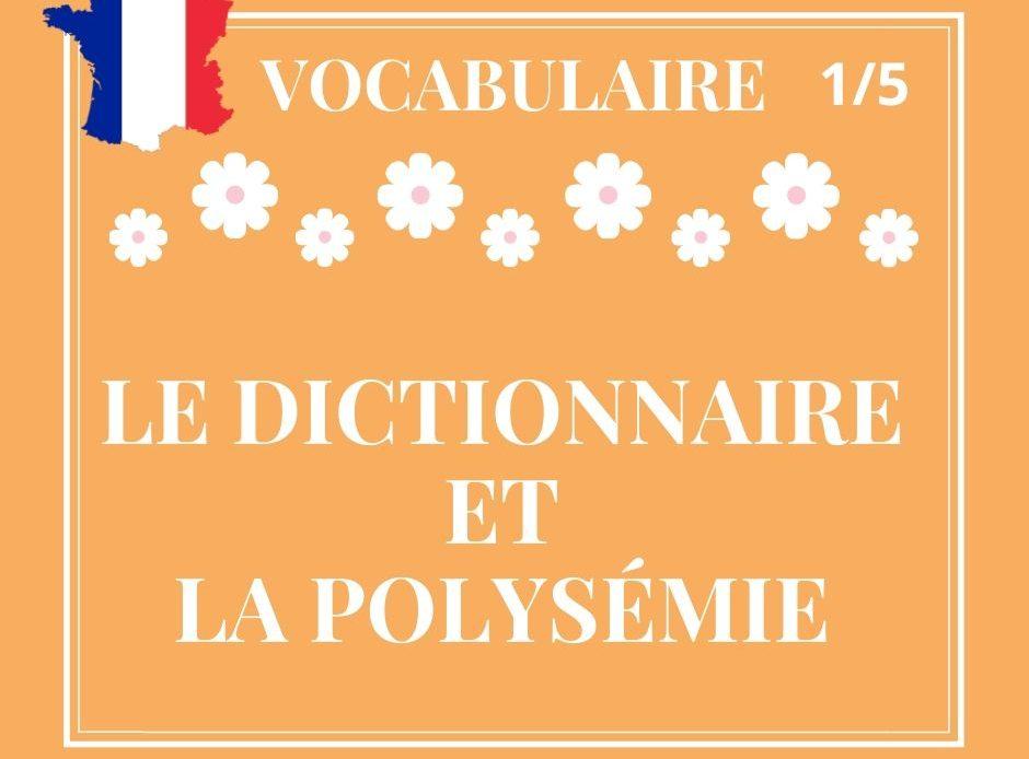 VOCABULAIRE 1/5, le dictionnaire et la polysémie