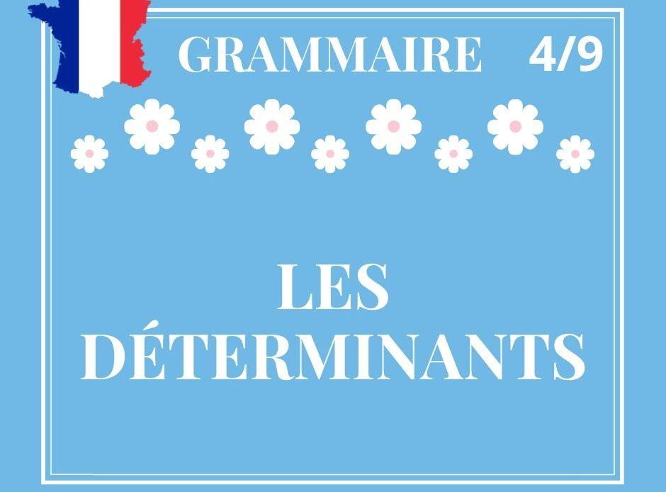 GRAMMAIRE 4/9 : les déterminants