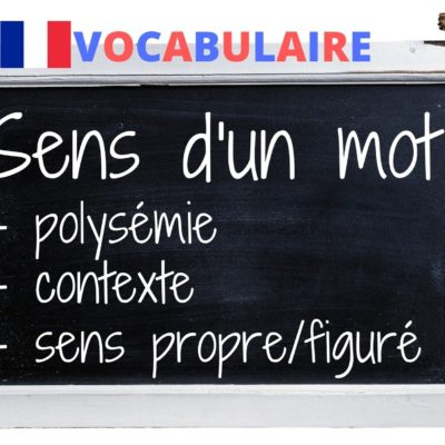 VOCABULAIRE : les différents sens d'un mot